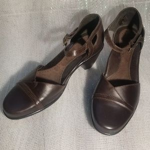 Dansko Brown Roxy Leather Strap Heels sz 36